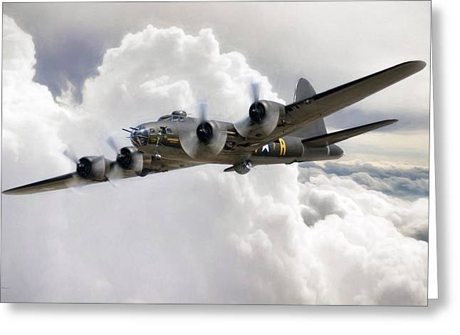 Memphis Belle Greeting Card by Peter Chilelli