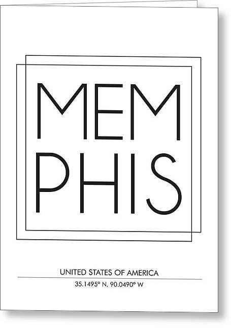 Memphis City Print With Coordinates Greeting Card