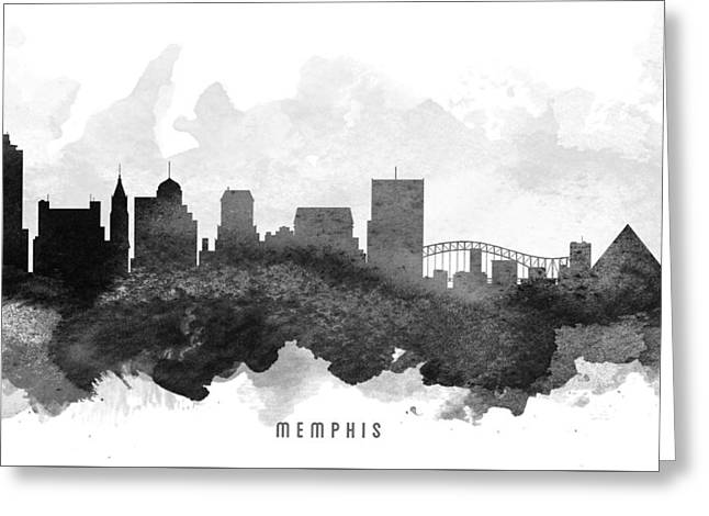 Memphis Cityscape 11 Greeting Card by Aged Pixel