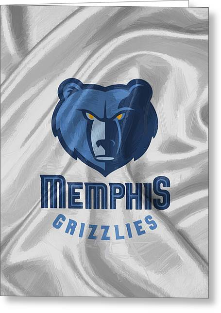 Memphis Grizzlies Greeting Card by Afterdarkness