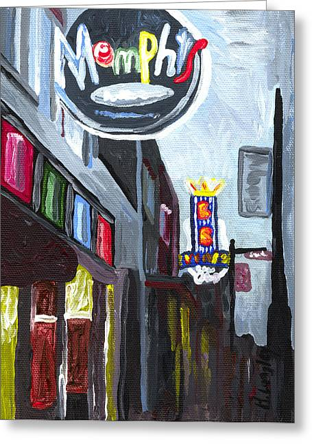 King Greeting Cards - Memphis Greeting Card by Helena M Langley