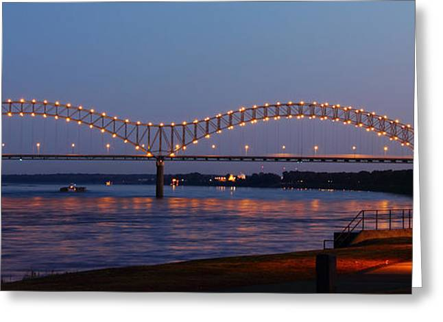 Memphis - I-40 Bridge Over The Mississippi 2 Greeting Card by Barry Jones