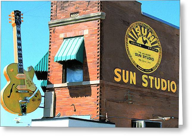Memphis Sun Studio Birthplace Of Rock And Roll 20160215 Square Greeting Card