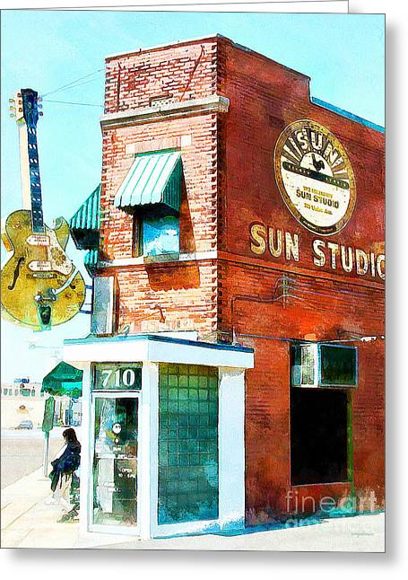 Memphis Sun Studio Birthplace Of Rock And Roll 20160215wcstyle Greeting Card