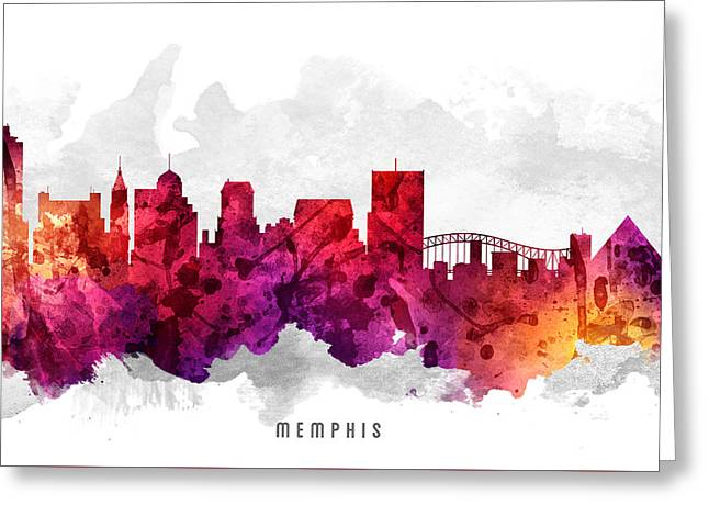 Memphis Tennessee Cityscape 14 Greeting Card