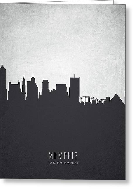Memphis Tennessee Cityscape 19 Greeting Card by Aged Pixel
