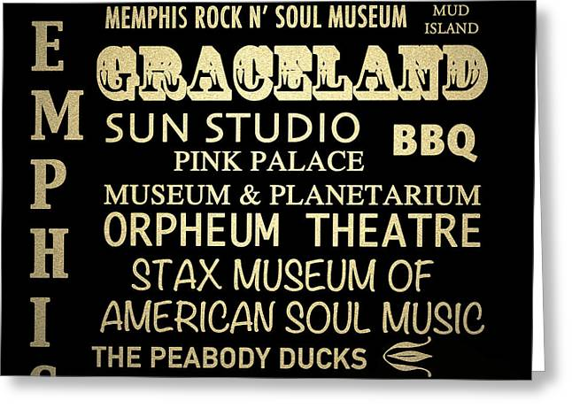Memphis Tennessee Famous Landmarks Greeting Card