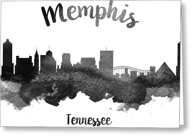 Memphis Tennessee Skyline 18 Greeting Card by Aged Pixel