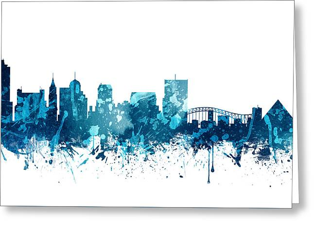 Memphis Tennessee Skyline 19 Greeting Card