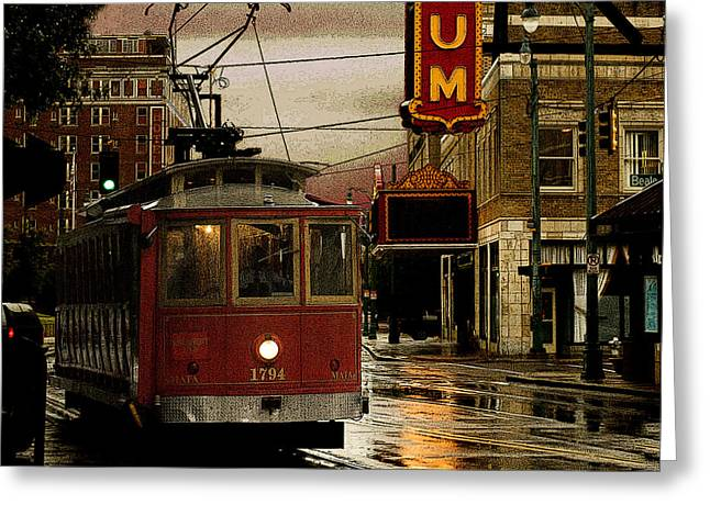 Memphis Tennissee Streetcar Greeting Card