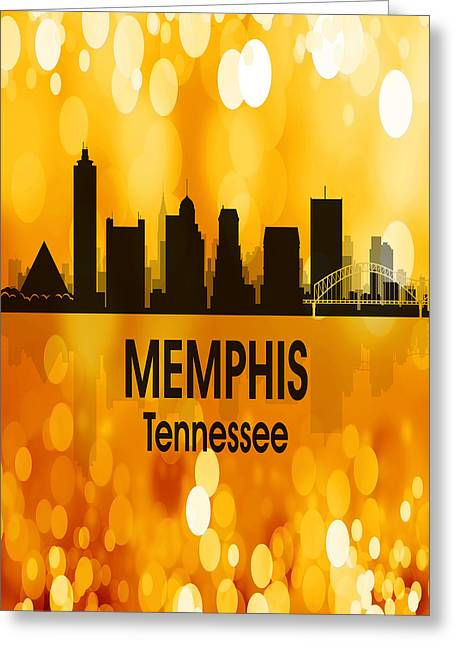 Memphis Tn 3 Vertical Greeting Card by Angelina Vick