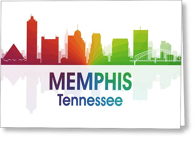 Memphis Tn Greeting Card by Angelina Vick