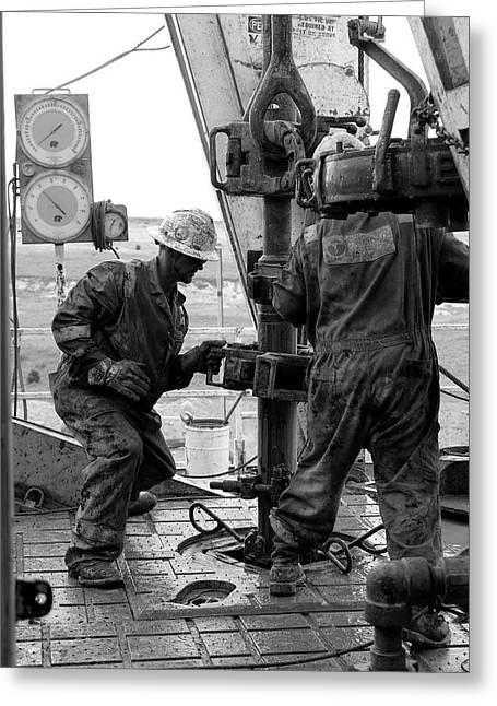 Men At Work Greeting Card by Jason Drake