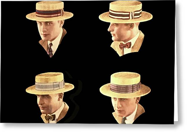 Men In Hats Greeting Card