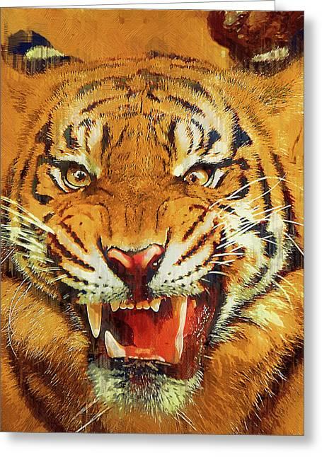 Menacing Tiger Greeting Card