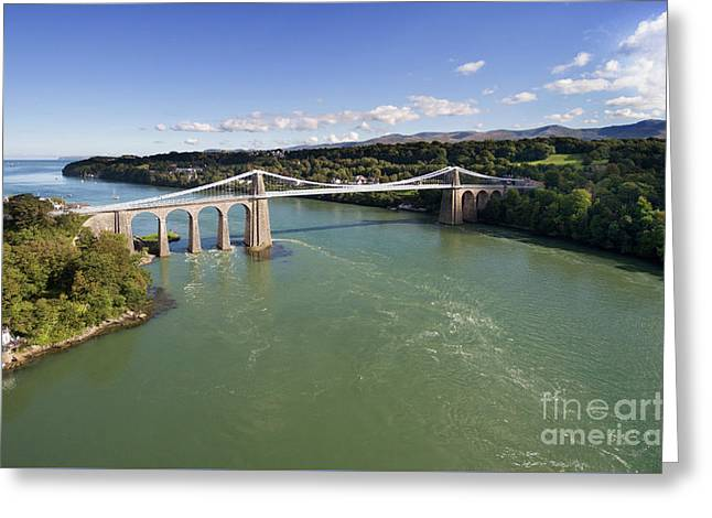 Menai Bridge 1 Greeting Card by Steev Stamford