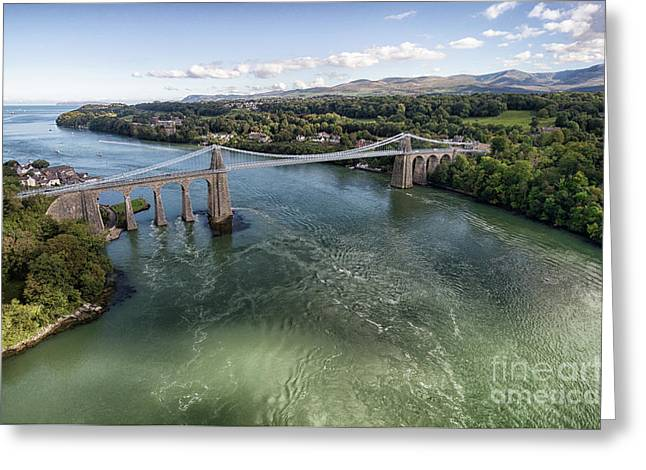 Menai Bridge 2 Greeting Card by Steev Stamford