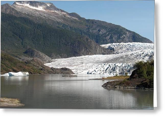 Mendenhall Glacier Alaska Greeting Card by Janet  Hall