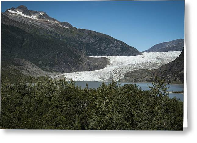 Mendenhall Glacier Greeting Card by Robin Williams