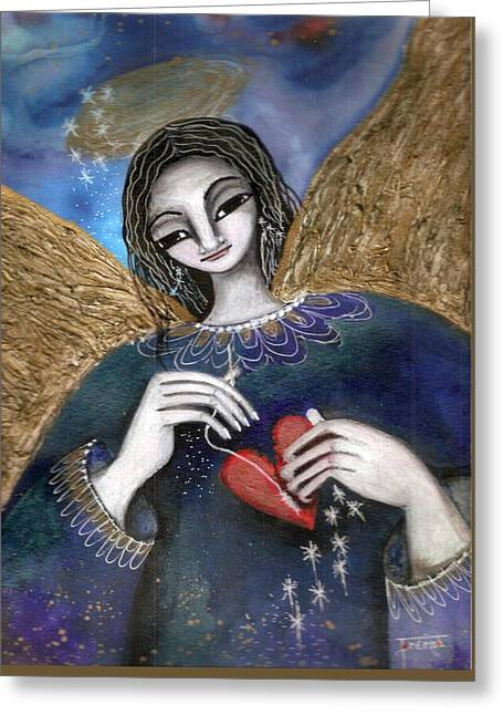 Mender Of Hearts Angel Greeting Card