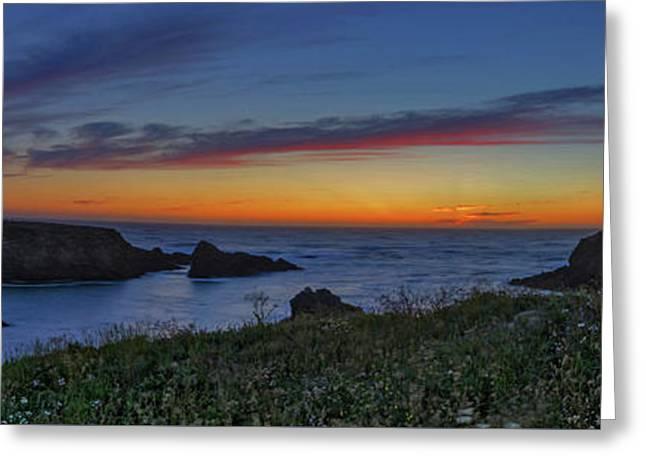 Mendocino Headlands Sunset Greeting Card