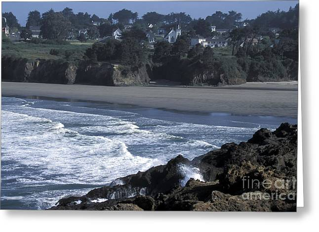 Greeting Card featuring the photograph Mendocino  by Stan and Anne Foster