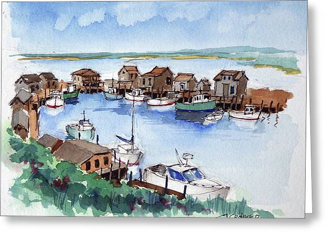 Menemsha Safe Haven Greeting Card by John Crowther