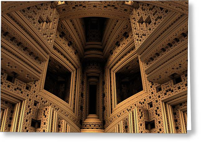 Menger Cathedral Greeting Card by Hal Tenny