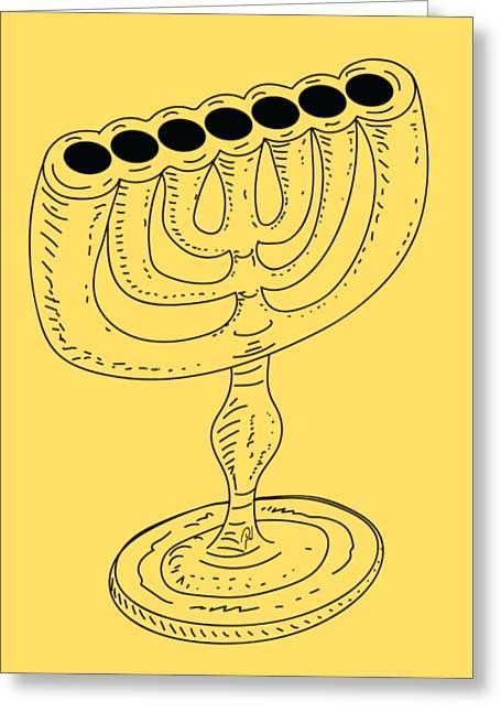 Menorah 1 Greeting Card