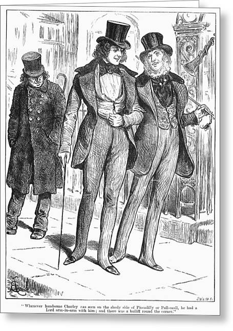 Mens Fashion, 1880 Greeting Card by Granger