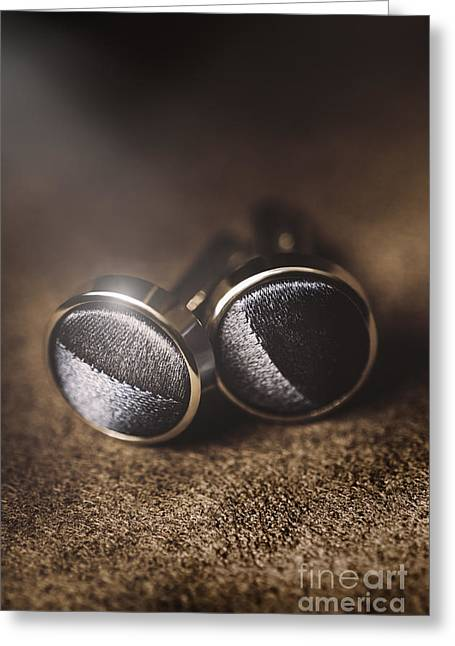 Mens Formalwear Cufflinks Greeting Card by Jorgo Photography - Wall Art Gallery