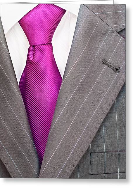 Men's Suit Greeting Card by Boyan Dimitrov