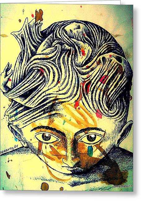 Mental Agitation Greeting Card by Paulo Zerbato