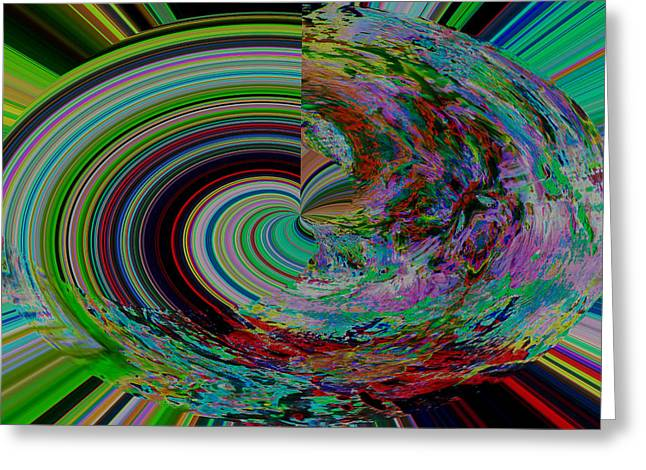 Mental Circle Abstract Greeting Card by Jeff Swan