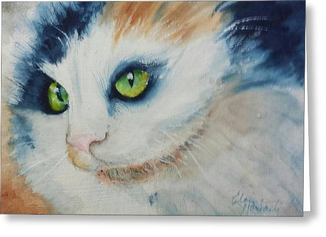 Meow II Greeting Card by Elaine Frances Moriarty