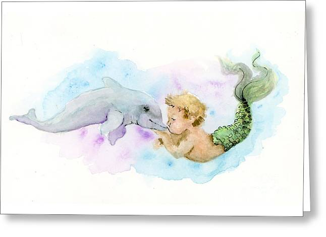 Merboy Kiss Greeting Card