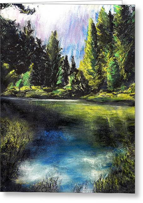 Merced River Bank Greeting Card