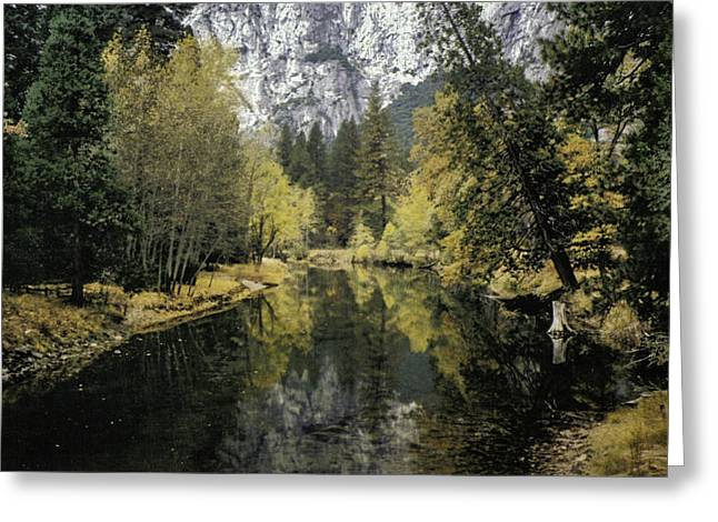 Merced River Reflection Greeting Card