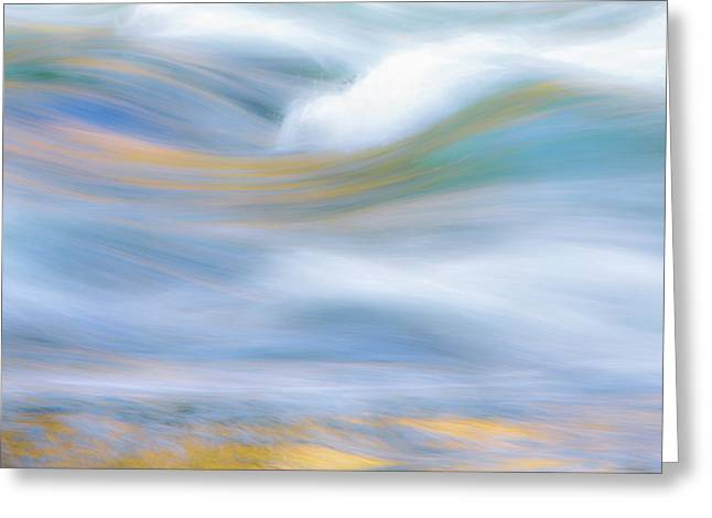 Merced River Reflections 19 Greeting Card by Larry Marshall