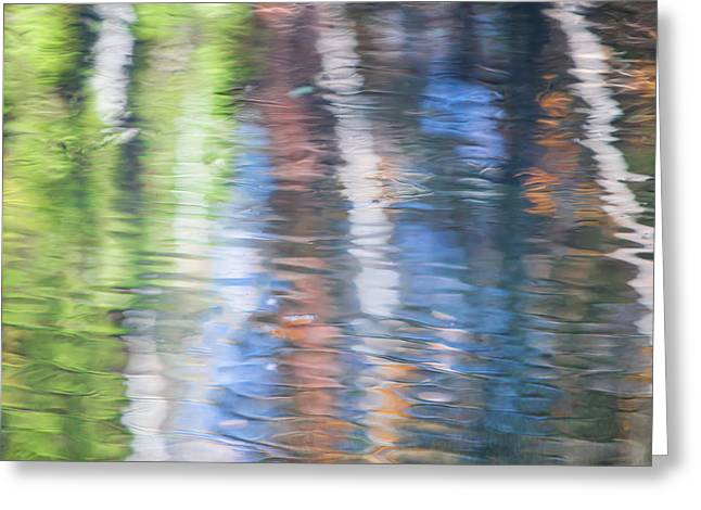 Merced River Reflections 8 Greeting Card by Larry Marshall