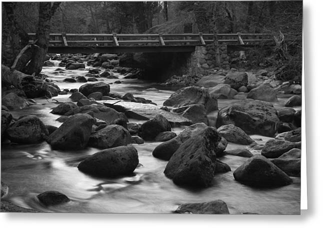 Merced River Wood Bridge Greeting Card