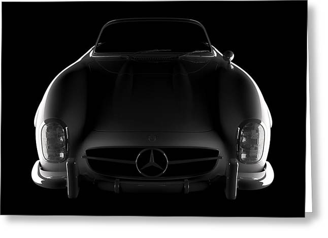 Mercedes 300 Sl Roadster - Front View Greeting Card