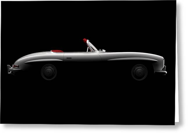 Mercedes 300 Sl Roadster - Side View Greeting Card