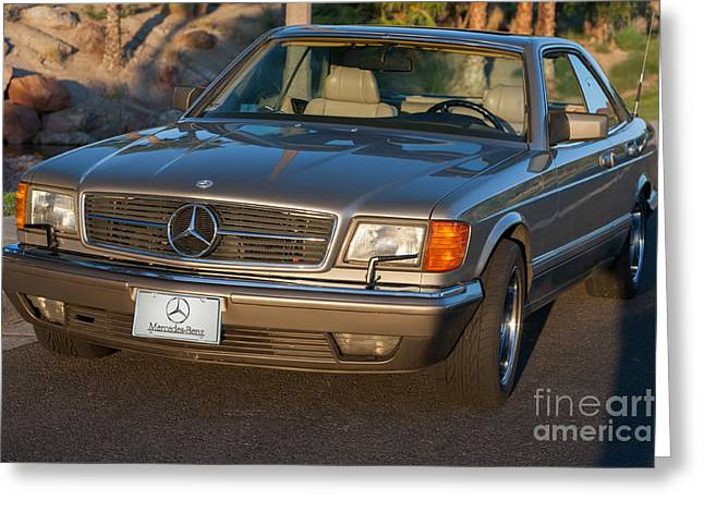 Greeting Card featuring the photograph Mercedes 560sec W126 by Gunter Nezhoda