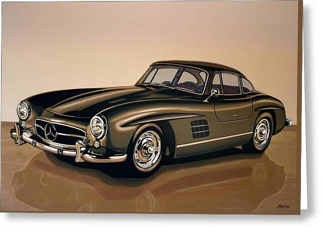 Mercedes Benz 300 Sl 1954 Painting Greeting Card by Paul Meijering