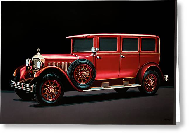 Mercedes-benz Typ 300 Pullman Limousine 1926 Painting Greeting Card by Paul Meijering