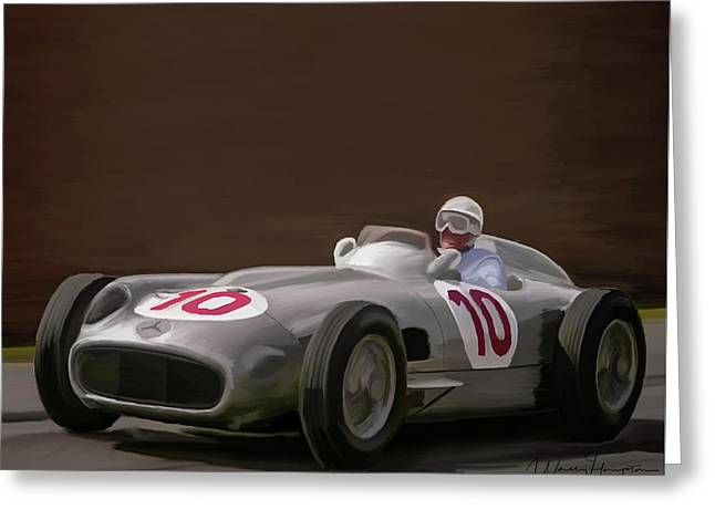 Mercedes-benz W196 Number 10 Greeting Card by Wally Hampton