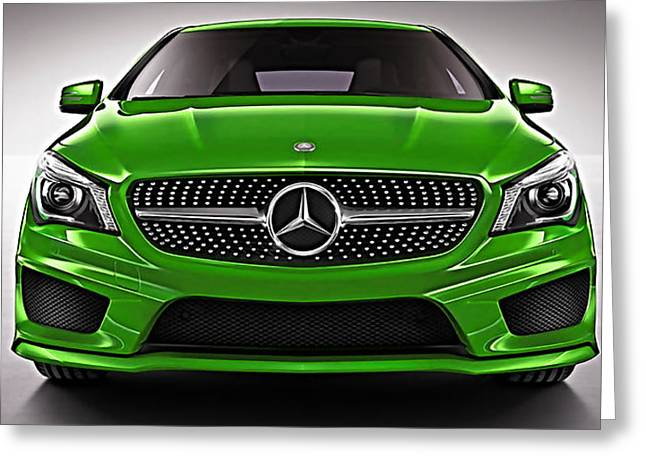 Mercedes Cla Class Coupe Collection Greeting Card