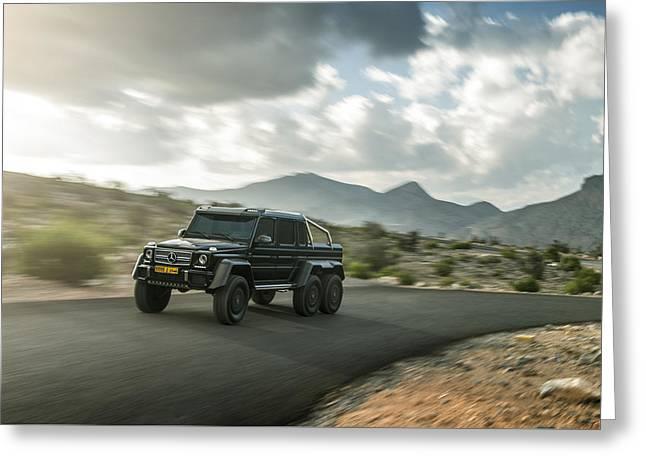 Mercedes G63 6x6 In Oman Greeting Card