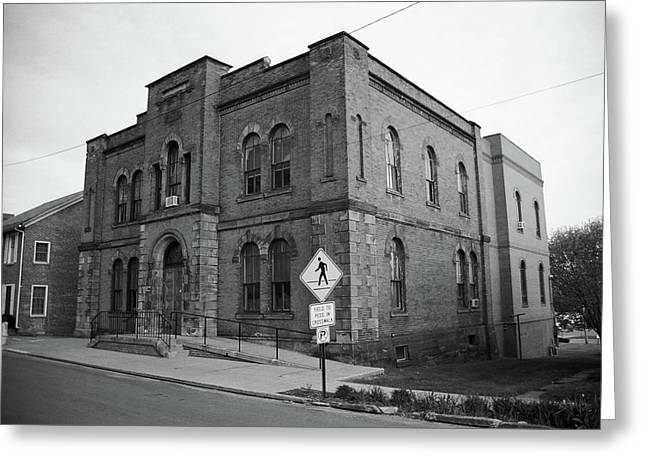 Mercer, Pa - Vintage Building 2008 Bw Greeting Card by Frank Romeo